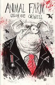 La Ferme Des Animaux Titre Original Animal Farm Est Un Apologue De George Orwell Publie En 194 Animal Farm Book Animal Farm George Orwell Book Cover Design