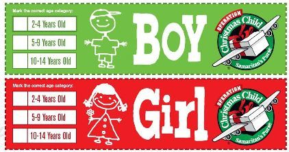 Christmas Child.Operation Christmas Child Shoebox Labels Who I Am