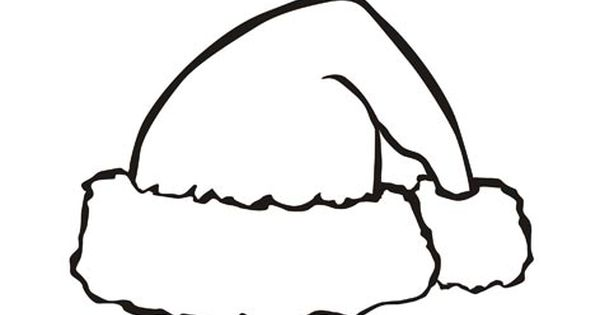 Santa Claus Hat Christmas Coloring Pages Christmas