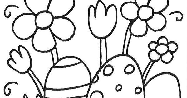 Ausmalbild Osterkorb