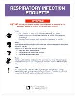 Free Cdc Respiratory Infection Etiquette Precaution Posters Now