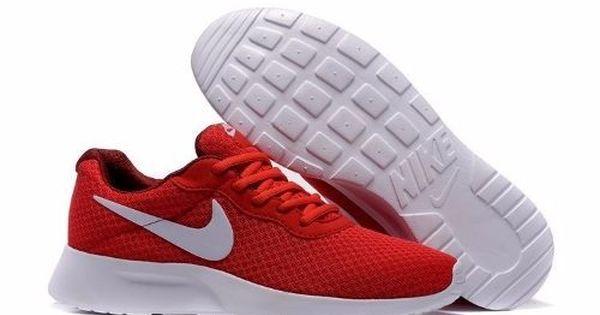 Tenis Nike Tanjun - Rojo Con Blanco 812654-616 | Nike mujer ...