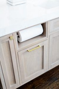 Built In Paper Towel Holder Kitchen Island Cabinet With