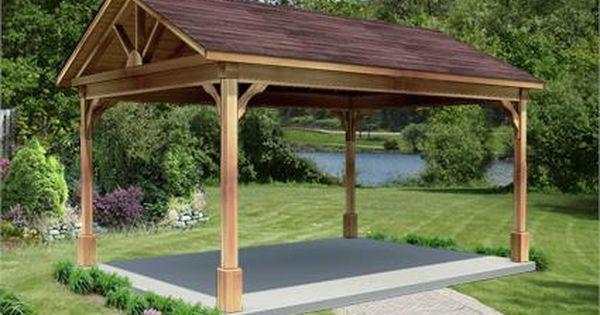 12 X 16 Cedar Gable Ramada Hot Tub Gazebo Hot Tub Landscaping Backyard Pavilion