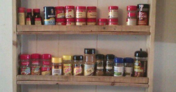 Pallet Spice Rack | Home Pallet Decor | Pinterest | Stove, Spices and