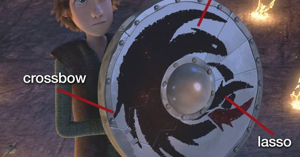 Hiccup S Shield Was The Inspiration For The Swiss Army
