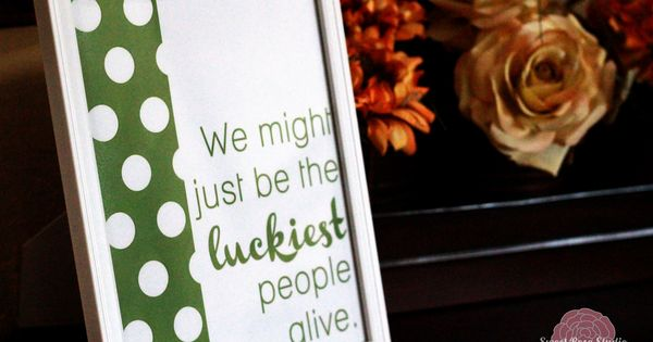 Luckiest People Alive Print St Patrick's Day Peppermint Patty Favor Free sweet