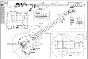 Full Scale Parker Nitefly Plan Guitar Design Guitar Building Guitar Tech