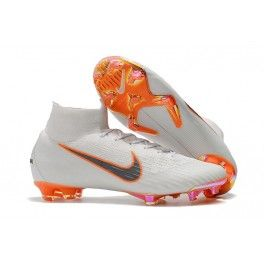 Nike Mercurial Superfly 6 Elite FG Soccer Cleats White Gray