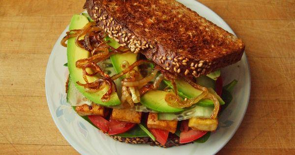 Vegan Tofu Sandwich.
