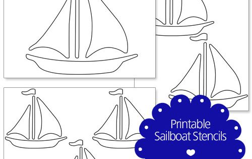 Printable Sailboat Stencils From PrintableTreats.com