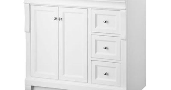 Foremost Naples White 36 Inch Vanity Nawa3621d Home Depot Canada Bathroom Reno