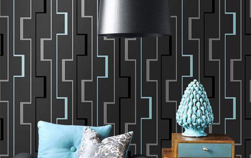 3d abstrato paredes papel de parede geom trico rolo para o for Wallpaper sala de estar