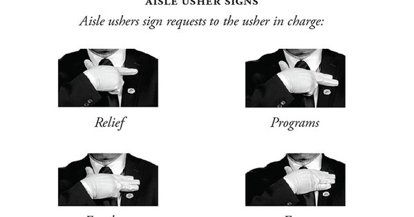 Accomplished image in free printable church usher hand signals