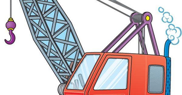 Crane Wheel Clip Art : Truck crane clipart clip art cranes pinterest