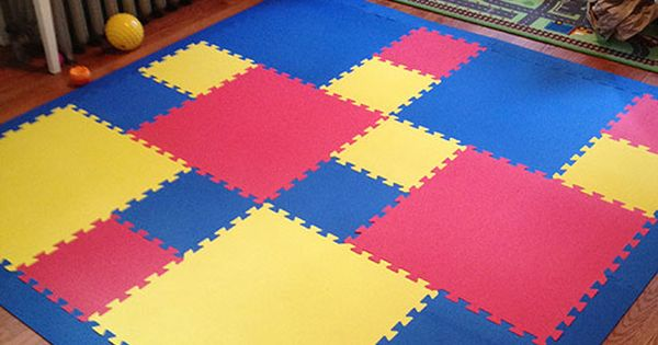 Children's Play Mat created by mixing two sizes of ...