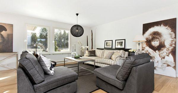 ... vardagsrum #grey #grått  Living room - Vardagsrum  Pinterest  Grey