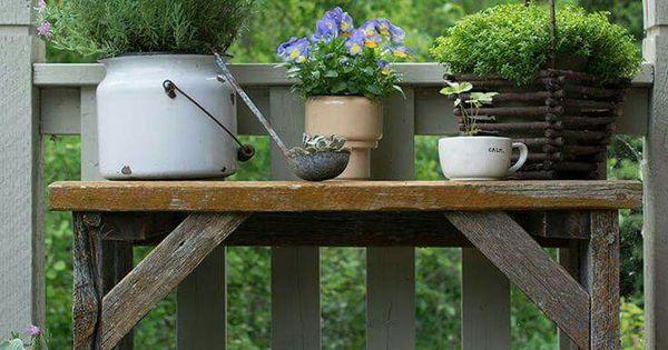id e de barri re avec une console de jardin pour plantes jardin pinterest jardins fleur. Black Bedroom Furniture Sets. Home Design Ideas