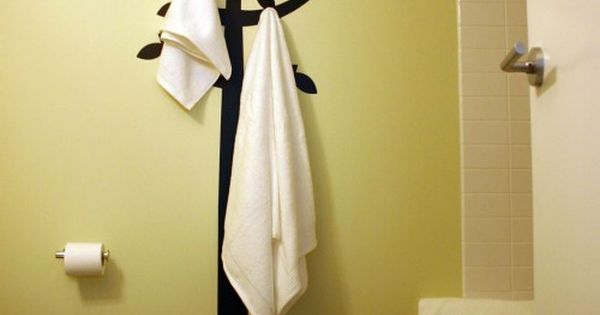 Cute idea for Bathroom towel hooks.