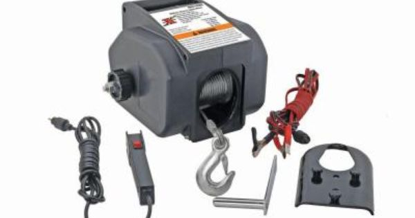 Pro Lift 1 Ton Portable Electric Winch I 9620 The Home Depot Electric Winch Winch Best Atv