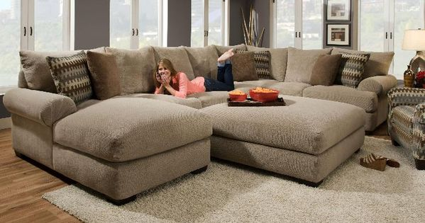 Oversized sectional gallery of the avoiding for Sofa modular gris