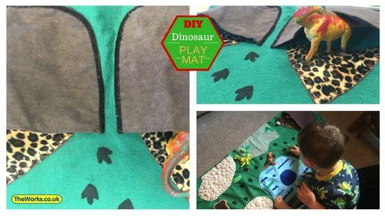 How I Made A Felt Dinosaur Play Mat For My Son Dinosaur Play Play Mat Dinosaur