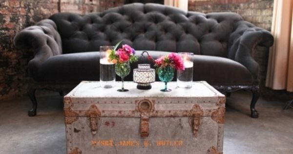 Tufted Sofa & trunk table