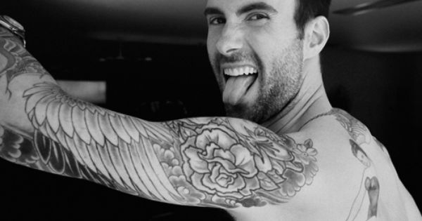 adam levine is hot stuff, nice eye candy