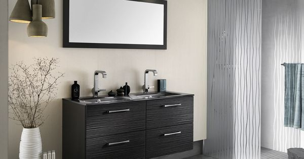 meuble de salle de bains avec plan vasque onde delpha disign pinterest plan vasque. Black Bedroom Furniture Sets. Home Design Ideas