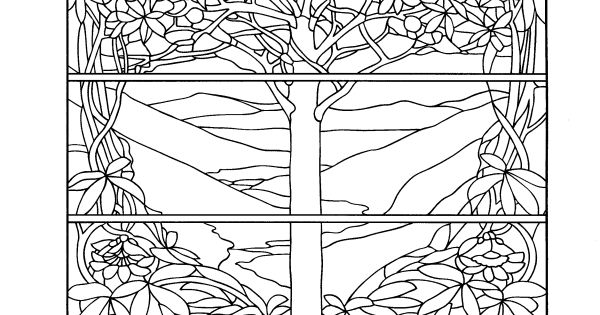 Color Your Own Tiffany Windows Dover Art Coloring Book