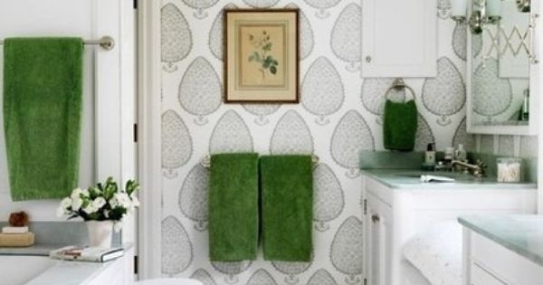 The bathroom in shades of green space bathroom wc for Emerald green bathroom accessories