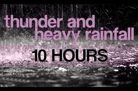 "10 Hours of Thunder and Heavy Rainfall ""Rain Sounds ..."