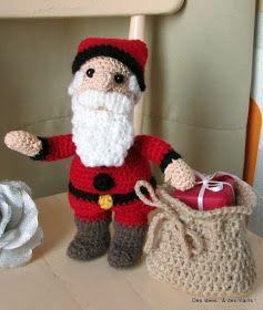 Père Noël Au Crochet Tuto Gratuit Noël Crochet Père Noël