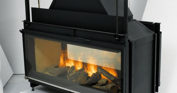 Double Sided Wood Burning Fireplace Insert With Blower Log Burner Pinterest Fireplace