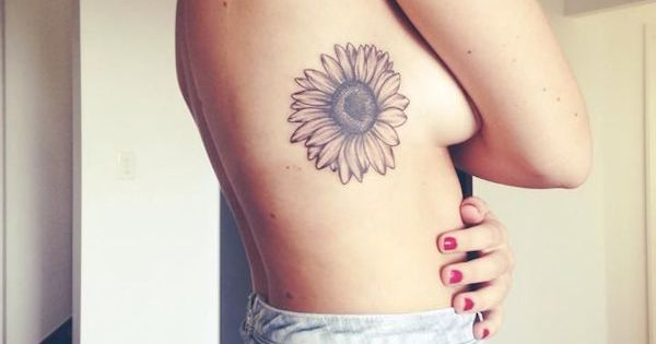 Sunflower rib tattoo Make you life brighter with more of ...