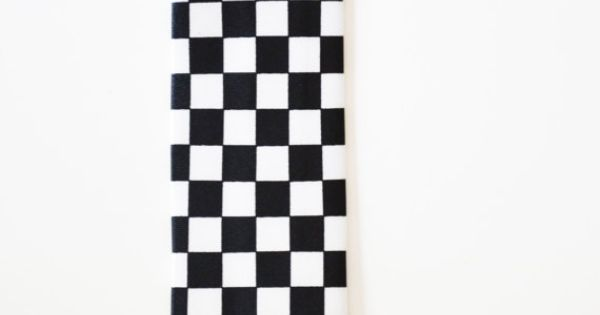 Mens Tie Black and White Checker Board Pattern by TiestheKnot, $8.99