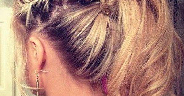 braids, French braids, pony tail, long hair