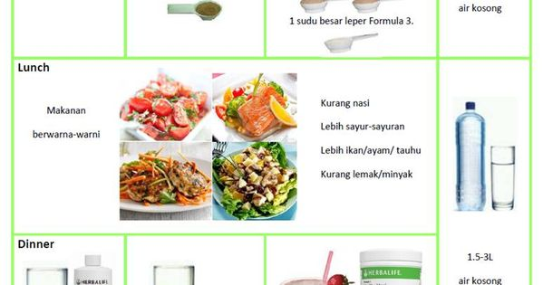 Herbalife Meal Plan and Workout   Pengedar Herbalife ...