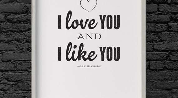 "This Romantic Poster | 34 Things Every ""Parks And Recreation"" Fan Needs"