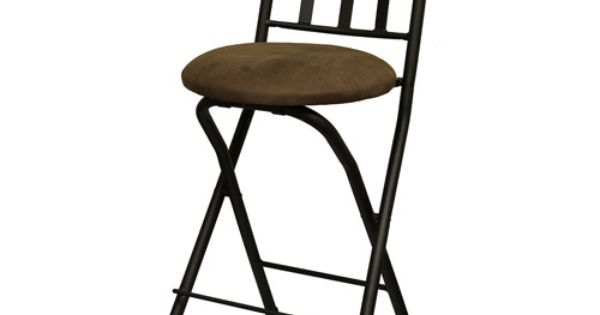 Slat Back Folding 24 Quot Counter Stool Bronze With Beige