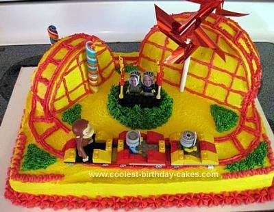 Awesome Homemade Roller Coaster Birthday Cake Roller Coaster Cake Unusual Birthday Cakes Half Birthday Cakes
