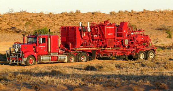 Halliburton Cement Pump Unit A Photo On Flickriver Big Trucks Trucks Drilling Rig