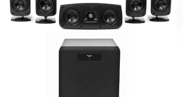 klipsch quintet 5 1 home theater speaker system with sw. Black Bedroom Furniture Sets. Home Design Ideas