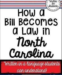 How A Bill Becomes A Law In North Carolina North Carolina Teachers Pay Teachers Freebies Social Studies Lesson
