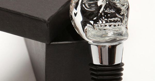 bottle stopper skull from urban outfitters goth pinterest. Black Bedroom Furniture Sets. Home Design Ideas