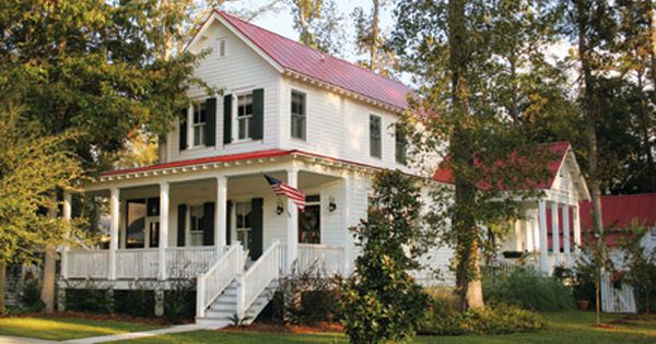 Pin By Lady Shreelove On Cottage Love Red Roof House Metal Roof Houses House Roof