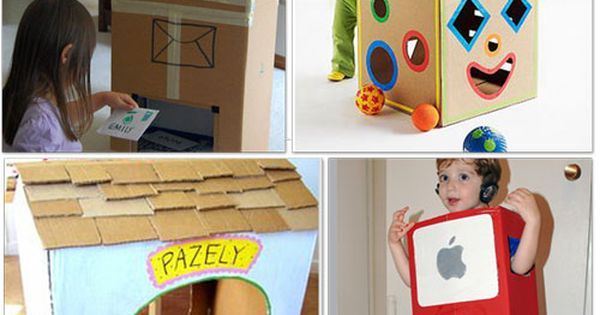 32 Things to make with cardboard boxes (rainy day activity!)