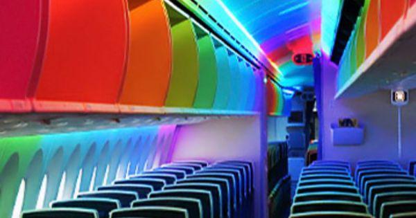 Boeing 787 rainbow colors
