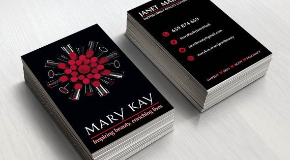 Mary Kay Business Cards Printable Beauty By Topbusinesstemplates Mary Kay Business Cards Mary Kay Business Mary Kay Office