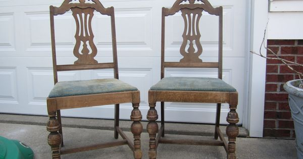 More Curbside Finds 1920s Penn Table Company Chairs